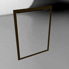 Chocolate Wall Mirror, H88 x W63cm