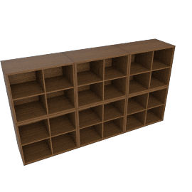 Forma Open Shelving, Walnut