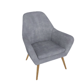 Retro Vibe Accent Chair  Blue