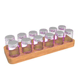 Oak Spice Rack