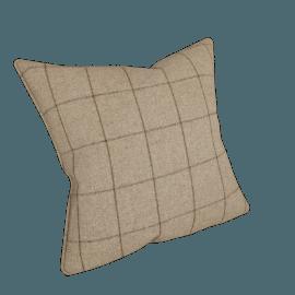 Moon Flannel Check Cushion, Beige