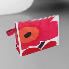 Marimekko Hipaus Markiisi Poppy Wash Bag, Red, Small