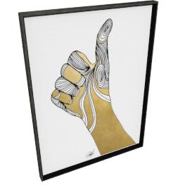 Sign Language VII by KelliEllis - 30''x40'', Black