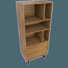 Nomos 3-Shelf 2-Drawer Rack