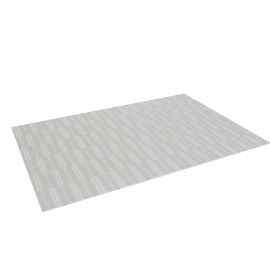Spindle Outdoor Rug 6'7 x 9'10, Warm Grey