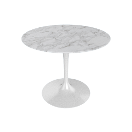 Saarinen Round Dining Table 35'', WhiteExtra - Wht.WhiteExtra