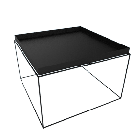 Tray Coffee Table, Black