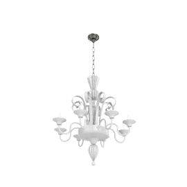 Murano Glass Chandelier - White