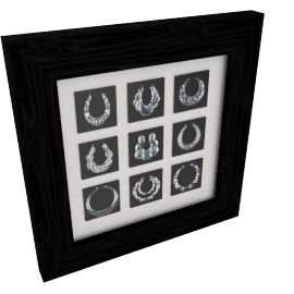 Rangabali Framed Decor Art 60X5X60Cm-Black/Silver