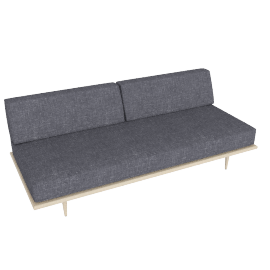Nelson Daybed with Back Bolster, Fabric: Pebble Weave Color: Ash.Pumice Leg: Taper