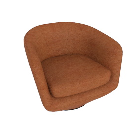 U Turn Swivel Chair, Saddle