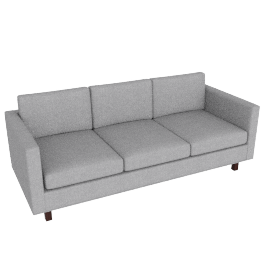 Goodland Sofa Walnut Leg, Basket Weave Silver