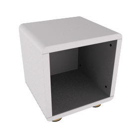 Mini Malibu Bedside Table, Silver