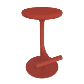 Tibu Piston Stool, red coral