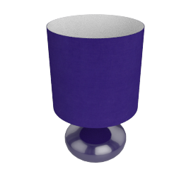 Zachari Touch Table Lamp, Purple