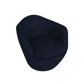 Lina Swivel Chair, Pecora - Dark Navy