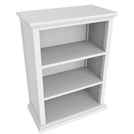 Hickory Bookcase, White