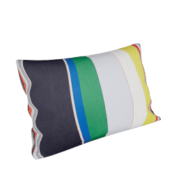 Maharam Pillow in Bold Sequential Stripes 11'' x 21''