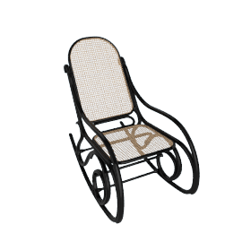 Rocking Chair from Thonet, Black