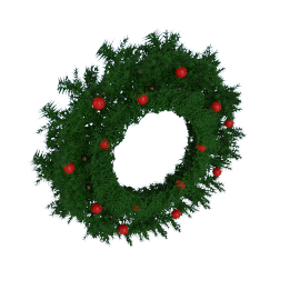 Berries and Cone Christmas Wreath