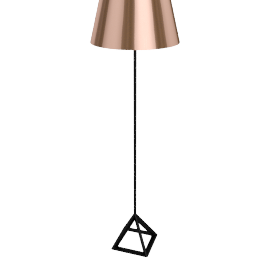 Tom Dixon Base Light Floor Light, copper