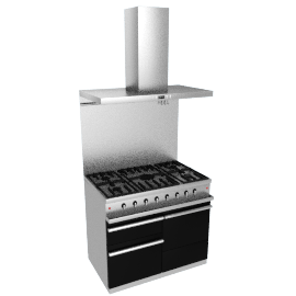 Westahl WG1052GECTAPK1 Dual Fuel Cooker, Hood and Splashback Package, Anthracite