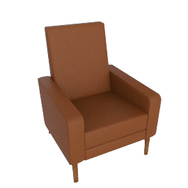 Flight Recliner, Kalahari Canyon with Walnut Legs