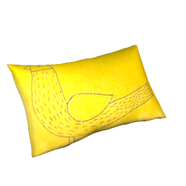 Becky Bird Cushion, Yellow