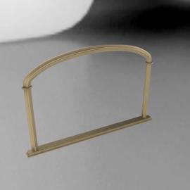 John Lewis Eve Overmantel Mirror, H84 x W124cm