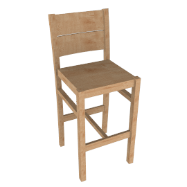 Portal Bar Chair, Oak