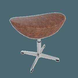 Egg Footstool - Elegance Leather - Walnut