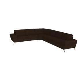 Avila Corner Sofa Left, Dark Brown