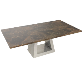 Wellington Coffee Table, Grey/Chrome
