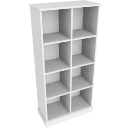 Charlie 8 Box Storage, White