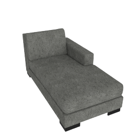 Signature Chaise Right, Silver Gray
