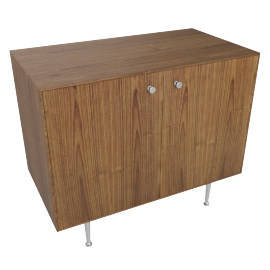 Nelson Thin Edge Cabinet, Walnut