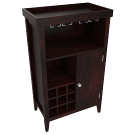 Gilbert 1-Door Bar Table with Storage