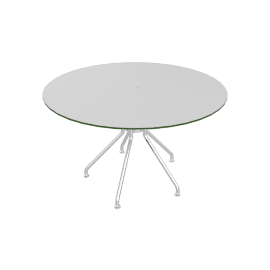 Lucca Round Dining Table - White