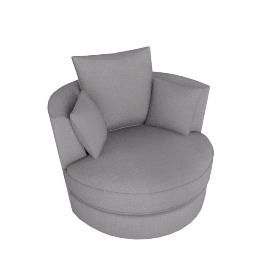 Luman Swivel Chair, Pier Steel