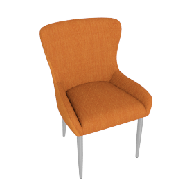 Claire Dining Chair, Orange