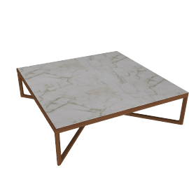 Krusin Coffee Table with Marble Tabletop - Wlnt.Arbes.Stn