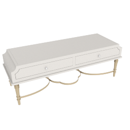 Anteros Coffee Table - Pearl White/Champagne Gold