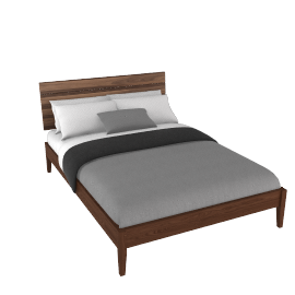 House by John Lewis Stride Bedstead, Double, Walnut