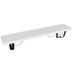 Lincoln Shelf 71 cm, White