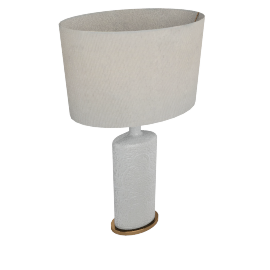 Alshain Ceramic Table Lamp 46X46X79Cmh- Cream-3Pin