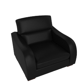 Granada Leather Chair, Black