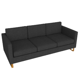 Goodland Sofa Bronze Leg, Basket Weave Anthracite