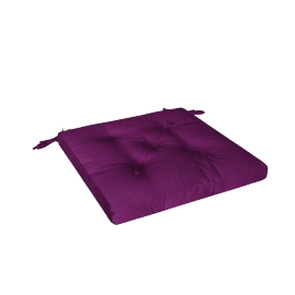 Mabel Chair Pad, Purple