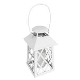 Lattice Lantern, Cream, Medium