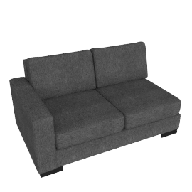 Signature 2 Seater With Left Arm, Grey